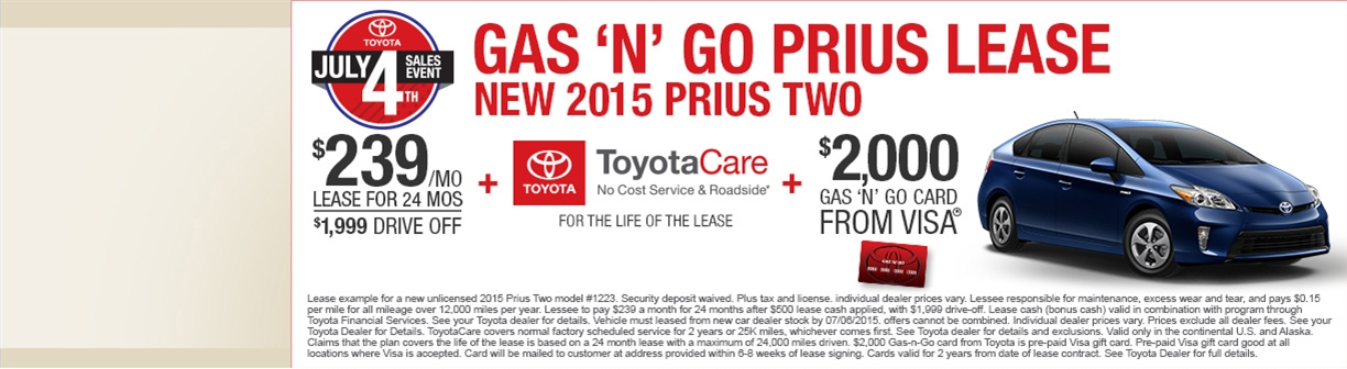 4th of July Prius deal