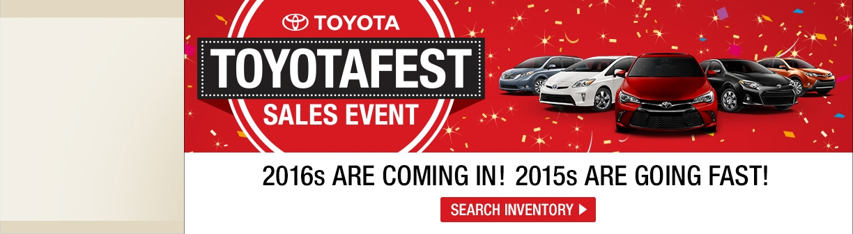 Toyota Clearance Event